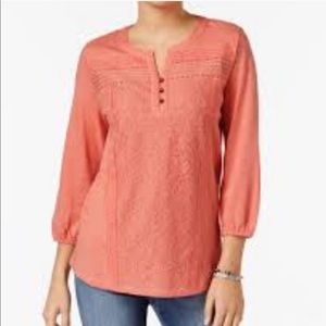 NWT Style & Co. Rose Sand Blouse Size M